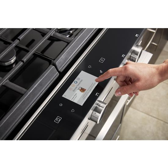 Model: WEGA25H0HZ | Whirlpool 5.8 cu. ft. Smart Slide-in Gas Range with EZ-2-Lift™ Hinged Cast-Iron Grates