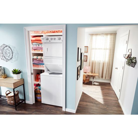 Model: WET4027HW | Whirlpool 3.5 cu.ft Electric Stacked Laundry Center 9 Wash cycles and AutoDry™