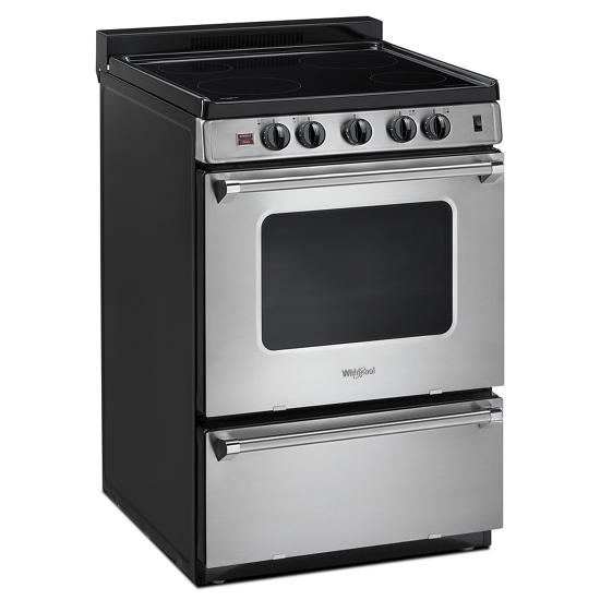 Whirlpool 24-inch Freestanding Electric Range with Upswept SpillGuard™ Cooktop