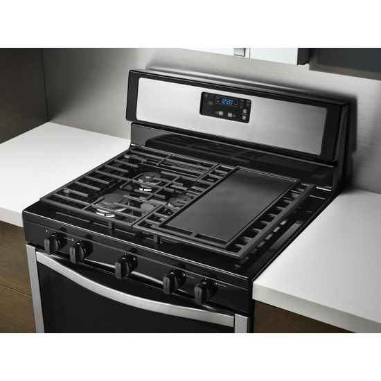 Model: WFG505M0BS | Whirlpool 5.1 cu. ft. Freestanding Gas Range with Five Burners
