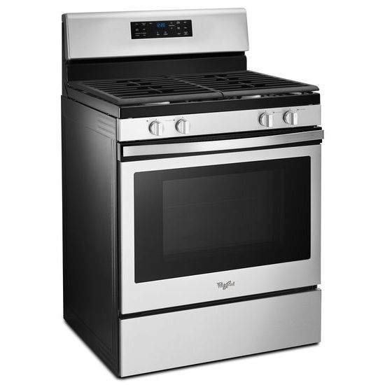Model: WFG520S0FS | Whirlpool 5.0 cu. ft. Front Control Gas Range with Fan Convection Cooking