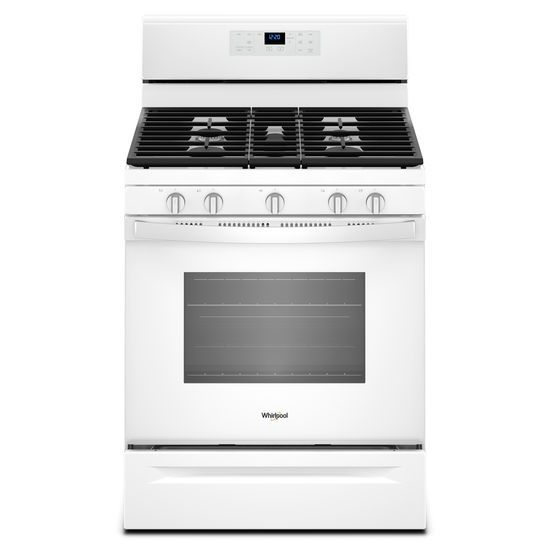 Whirlpool 5.0 cu. ft. Freestanding Gas Range with Center Oval Burner
