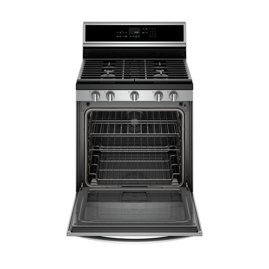 Model: WFG975H0HZ | Whirlpool 5.8 cu. ft. Smart Freestanding Gas Range with EZ-2-Lift™ Grates