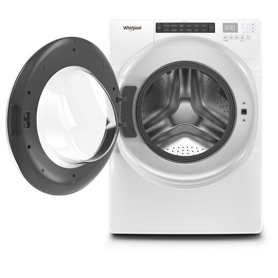 Model: WFW560CHW | Whirlpool 4.3 cu. ft. Closet-Depth Front Load Washer with Intuitive Controls