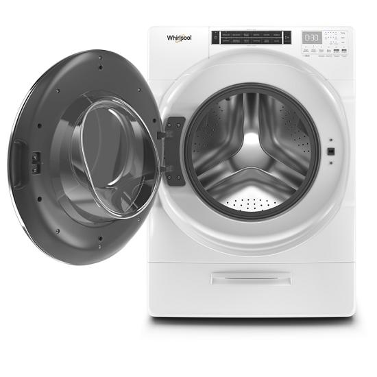 Model: WFW8620HW | Whirlpool 5.0 cu. ft. Front Load Washer with Load & Go™ XL Dispenser
