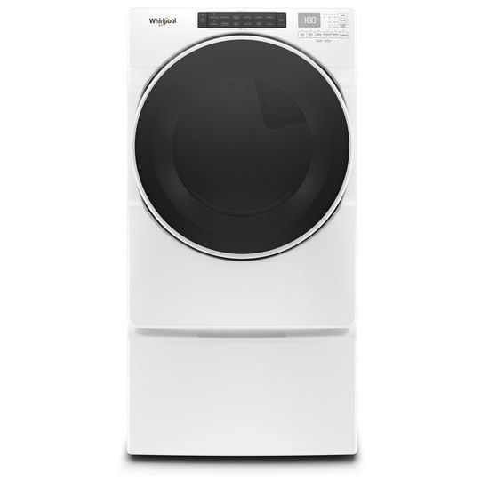Model: WGD6620HW | Whirlpool 7.4 cu. ft. Front Load Gas Dryer with Steam Cycles