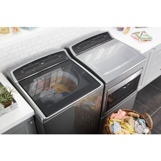 Model: WGD7500GC | 7.4 cu.ft Top Load HE Gas Dryer with AccuDry™, Intuitive Touch Controls