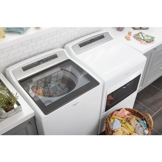 Model: WGD7500GW | 7.4 cu.ft Top Load HE Gas Dryer with AccuDry™, Intuitive Touch Controls