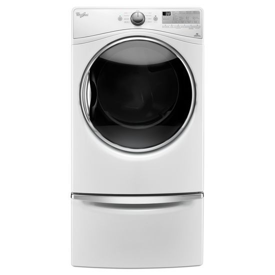 Model: WGD92HEFW | Whirlpool 7.4 cu.ft Front Load Gas Dryer with Advanced Moisture Sensing, EcoBoost™