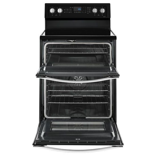 Model: WGE745C0FE   Whirlpool 6.7 Cu. Ft. Electric Double Oven Range with True Convection