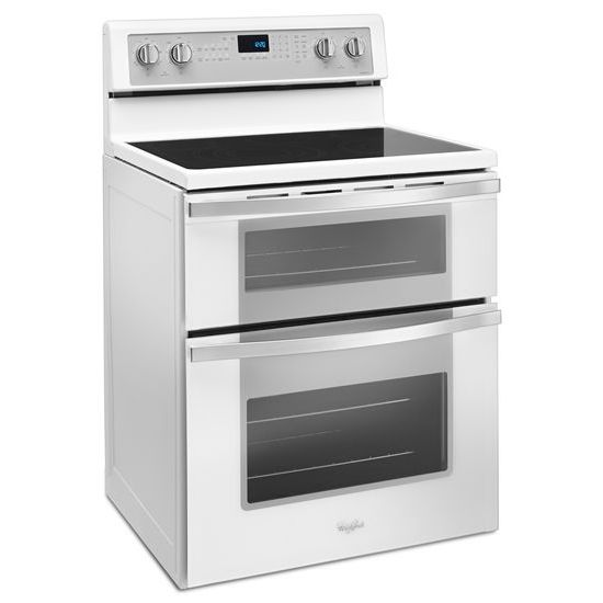 Model: WGE745C0FH | Whirlpool 6.7 Cu. Ft. Electric Double Oven Range with True Convection