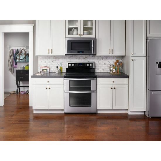 Model: WGE745C0FS | Whirlpool 6.7 Cu. Ft. Electric Double Oven Range with True Convection