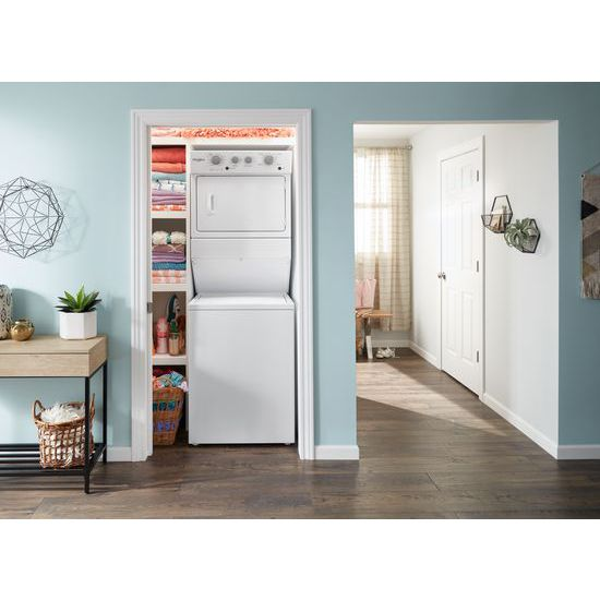 Model: WGT4027HW | Whirlpool 3.5 cu.ft Gas Stacked Laundry Center 9 Wash cycles and AutoDry™