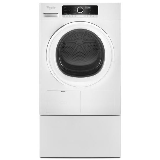 Model: WHD3090GW | Whirlpool 4.3 cu.ft Compact Ventless Heat Pump Dryer with Wrinkle Shield™ Option