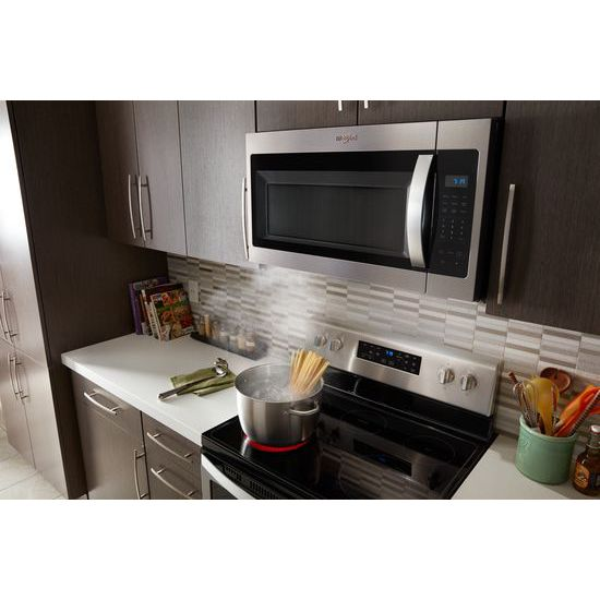 Model: WMH31017HS | Whirlpool 1.7 cu. ft. Microwave Hood Combination with Electronic Touch Controls
