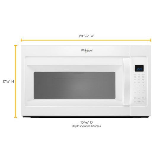 Model: WMH32519HW | 1.9 cu. ft. Capacity Steam Microwave with Sensor Cooking