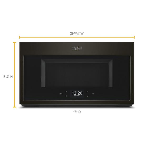 Model: WMHA9019HV | Whirlpool 1.9 cu. ft. Smart Over-the-Range Microwave with Scan-to-Cook technology