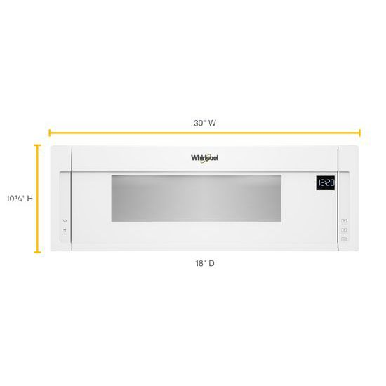 Model: WML55011HW | Whirlpool 1.1 cu. ft. Low Profile Microwave Hood Combination