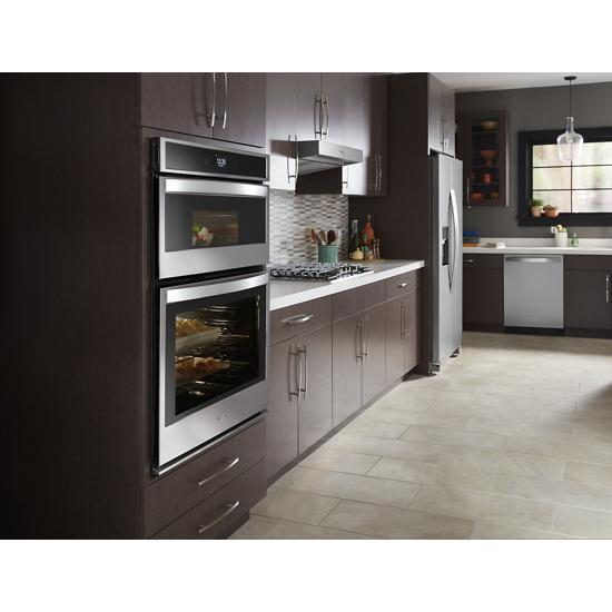 Model: WOC54EC0HS | Whirlpool 6.4 cu. ft. Smart Combination Wall Oven with Touchscreen
