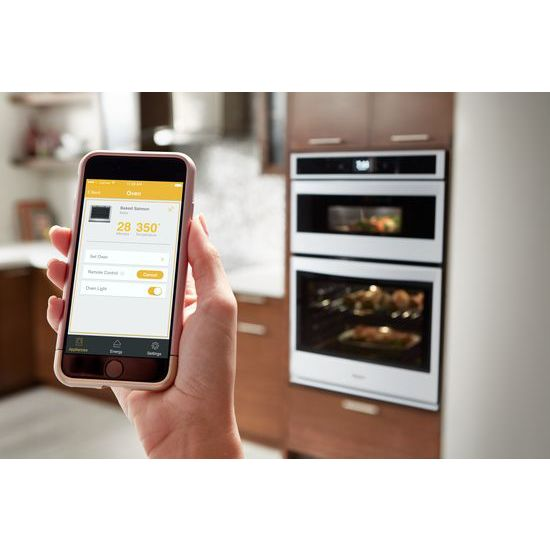 Model: WOC54EC0HW | 6.4 cu. ft. Smart Combination Wall Oven with Touchscreen