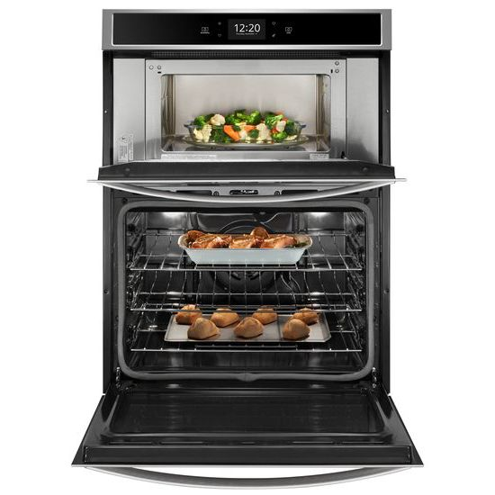 Model: WOC75EC7HS | Whirlpool 5.7 cu. ft. Smart Combination Wall Oven with Touchscreen
