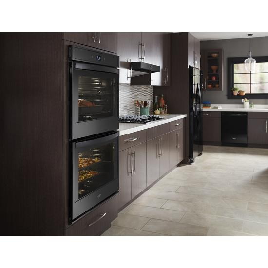 Model: WOD51EC0HB | Whirlpool 10.0 cu. ft. Smart Double Wall Oven with Touchscreen