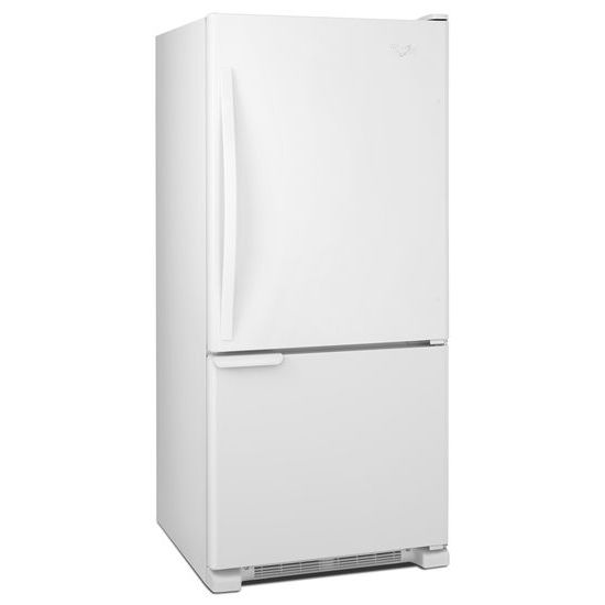 Model: WRB119WFBW | Whirlpool 30-inches wide Bottom-Freezer Refrigerator with Accu-Chill™ System - 18.7 cu. ft.
