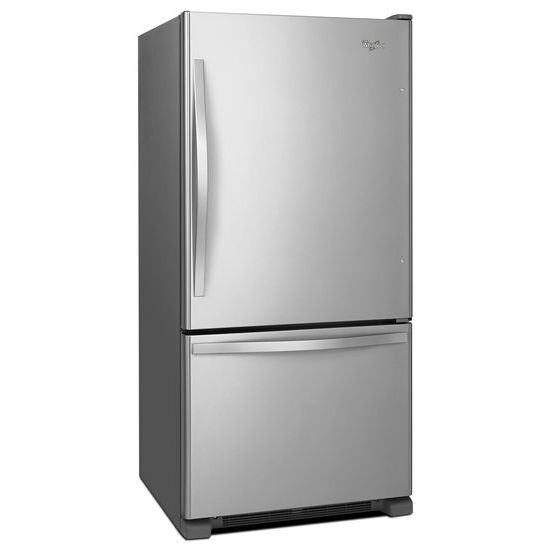 Model: WRB322DMBM | 33-inches wide Bottom-Freezer Refrigerator with SpillGuard™ Glass Shelves - 22 cu. ft