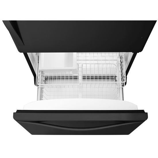 Model: WRB329DMBB | Whirlpool 30-inches wide Bottom-Freezer Refrigerator with SpillGuard™ Glass Shelves - 18.7 cu. ft.