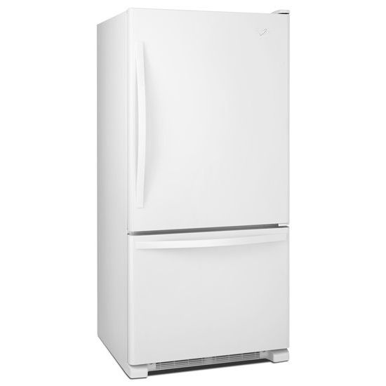 Model: WRB329DMBW | Whirlpool 30-inches wide Bottom-Freezer Refrigerator with SpillGuard™ Glass Shelves - 18.7 cu. ft.
