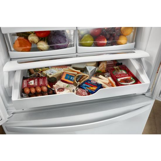 Model: WRF532SMHZ | Whirlpool 33-inch Wide French Door Refrigerator - 22 cu. ft.