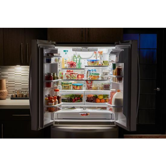 Model: WRF540CWHV | Whirlpool 36-inch Wide Counter Depth French Door Refrigerator - 20 cu. ft.
