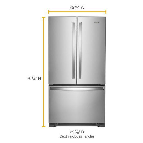 Model: WRF540CWHZ | 36-inch Wide Counter Depth French Door Refrigerator - 20 cu. ft.