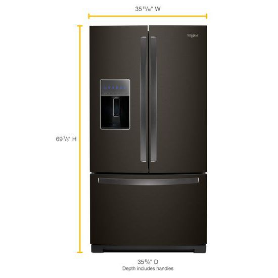 Model: WRF767SDHV | Whirlpool 36-inch Wide French Door Refrigerator - 27 cu. ft.