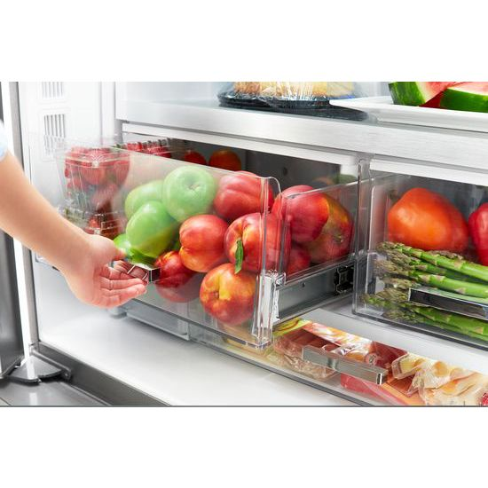 Model: WRF954CIHB | Whirlpool 36-inch Wide Counter Depth French Door Refrigerator - 24 cu. ft.