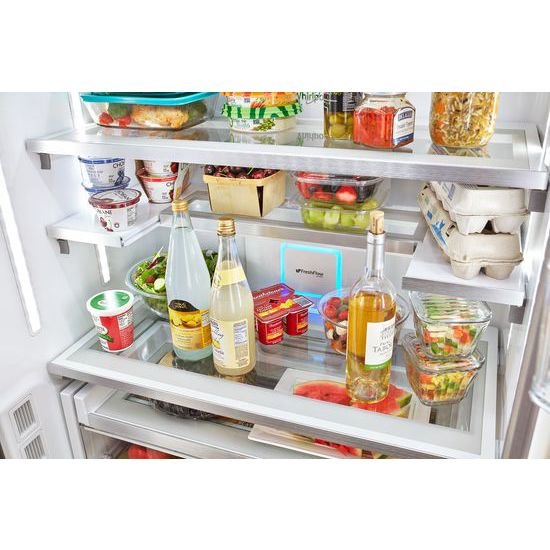 Model: WRF954CIHV | Whirlpool 36-inch Wide Counter Depth French Door Refrigerator - 24 cu. ft.