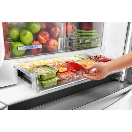 Model: WRF954CIHZ | Whirlpool 36-inch Wide Counter Depth French Door Refrigerator - 24 cu. ft.