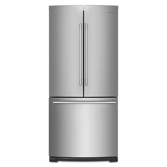 Whirlpool 30-inch Wide Contemporary Handle French Door Refrigerator - 20 cu. ft.