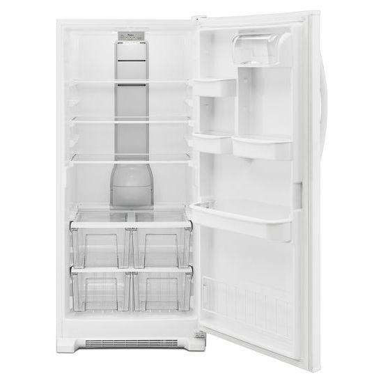 Model: WRR56X18FW | Whirlpool 31-inch Wide All Refrigerator with LED Lighting - 18 cu. ft.