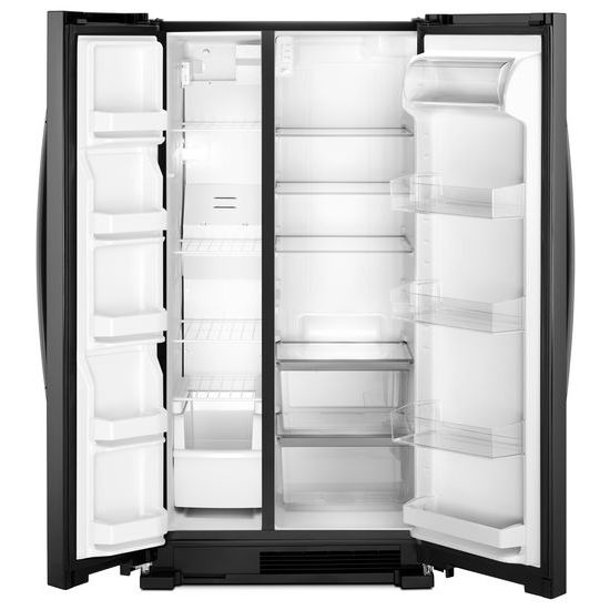 Model: WRS312SNHB | Whirlpool 33-inch Wide Side-by-Side Refrigerator - 22 cu. ft.