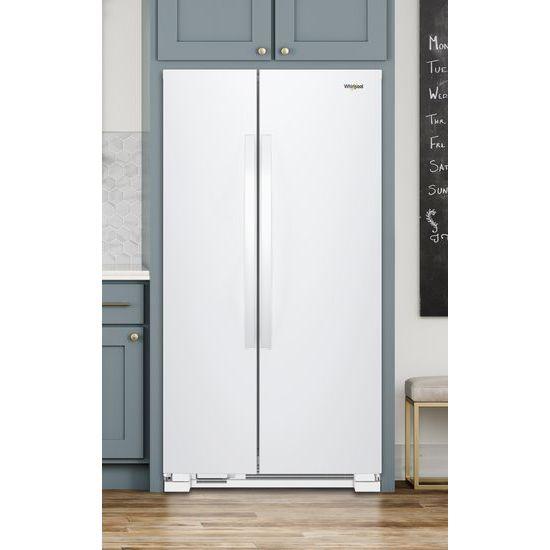 Model: WRS312SNHW | Whirlpool 33-inch Wide Side-by-Side Refrigerator - 22 cu. ft.
