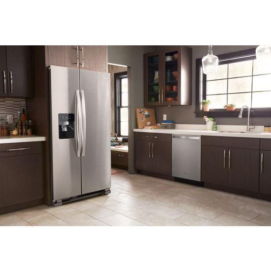 Model: WRS555SIHZ | Whirlpool 36-inch Wide Side-by-Side Refrigerator - 25 cu. ft.