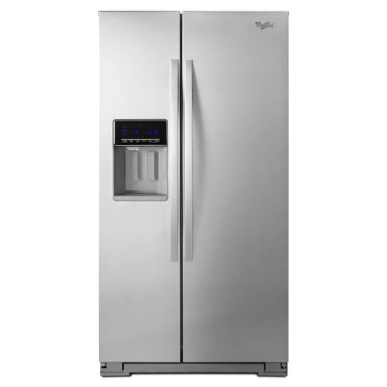 Model: WRS586FIEM | Whirlpool 36-inch Wide Side-by-Side Refrigerator with Temperature Control - 26 cu. ft.