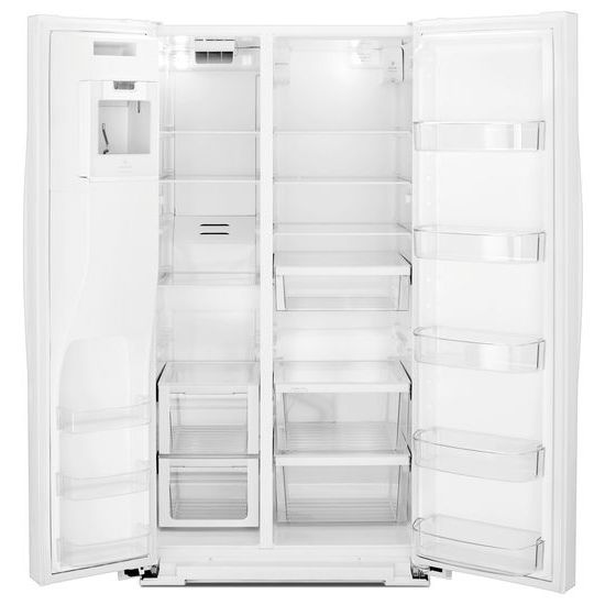 Model: WRS588FIHW | Whirlpool 36-inch Wide Side-by-Side Refrigerator - 28 cu. ft.