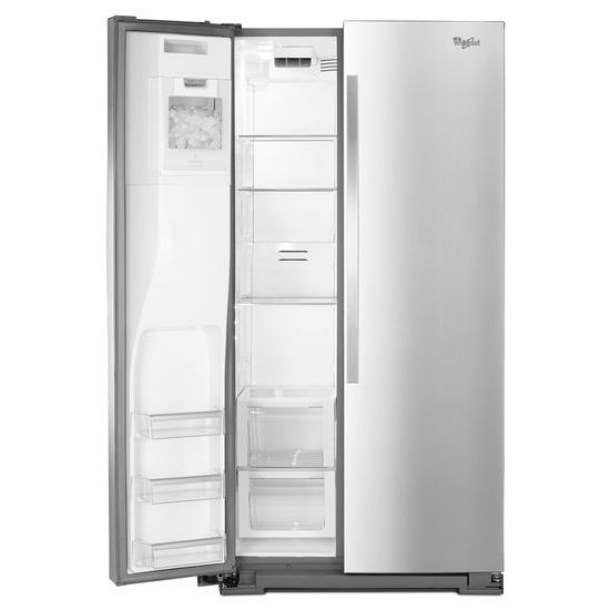 Model: WRS970CIDM | Whirlpool 36-inch Wide Side-by-Side Counter Depth Refrigerator with StoreRight™ Dual Cooling System - 20 cu. ft.