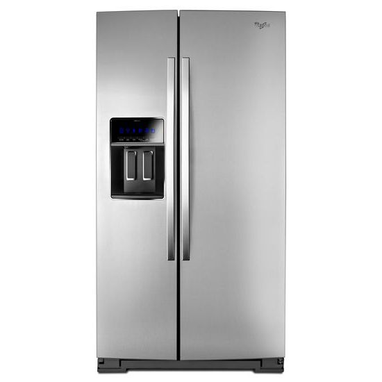 Whirlpool 36-inch Wide Side-by-Side Counter Depth Refrigerator with StoreRight™ Dual Cooling System - 23 cu. ft.