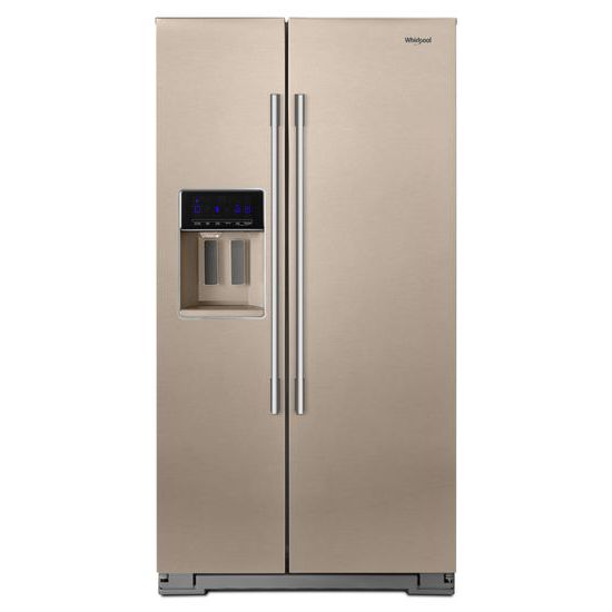 Whirlpool 36-inch Wide Contemporary Handle Counter Depth Side-by-Side Refrigerator - 21 cu. ft.