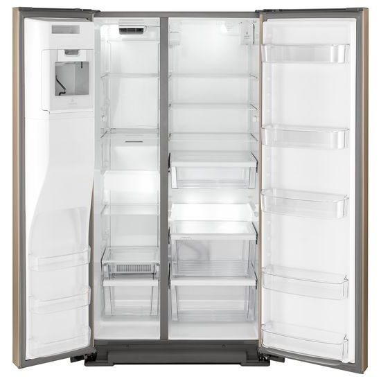 Model: WRSA71CIHN | Whirlpool 36-inch Wide Contemporary Handle Counter Depth Side-by-Side Refrigerator - 21 cu. ft.