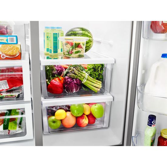 Model: WRSA71CIHZ | Whirlpool 36-inch Wide Contemporary Handle Counter Depth Side-by-Side Refrigerator - 21 cu. ft.