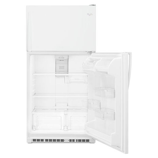 Model: WRT311FZDW | Whirlpool 33-inch Wide Top Freezer Refrigerator - 20 cu. ft.